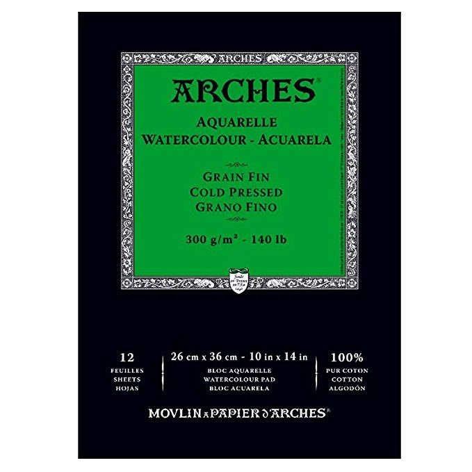 Amazon Com Canson Arches Cold Press Watercolor Pad 10 X 14 Inch