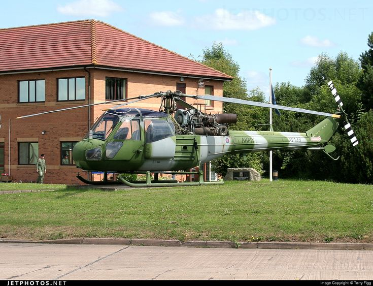 United Kingdom - Army Air Corps Westland Scout AH.1 XV123 s/n F9698  Shawbury United Kingdom  July 22, 2014 Photo by: Terry Figg