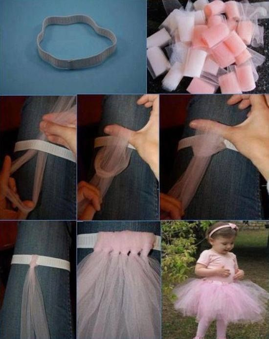 An easy way to learn how to make tutu skirts for girls. Simple and easy to do in a couple of hours using the no-sew method.