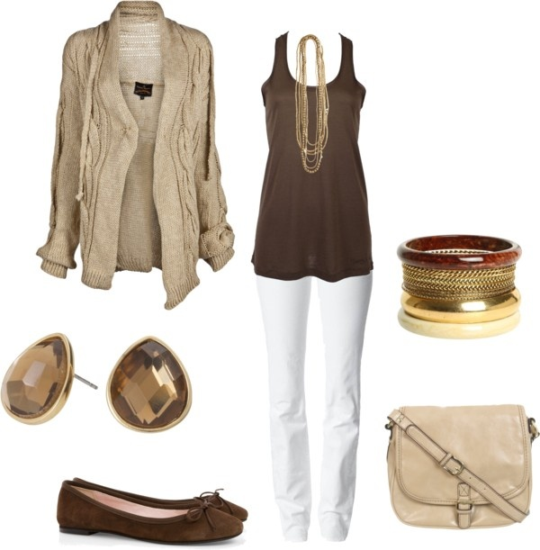 """""""Warm and cozy"""" by leelee107 ❤ liked on Polyvore: Colors Palette, White Skinny, Fall Colors, Fashion Outfits, Summer Work Outfits, Fall Outfits, White Pants, White Jeans, Nice Outfits"""