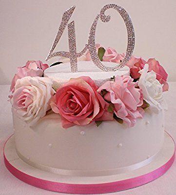 Per  ° compleanno o anniversario di matrimonio cake topper. Extra large number 12cm argento con strass scintillanti