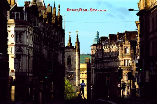 The city centre, Newcastle, United Kingdom.  Travel to Newcastle in just 3 hours by train or stay overnight before catching the ferry to Amsterdam with DFDS.