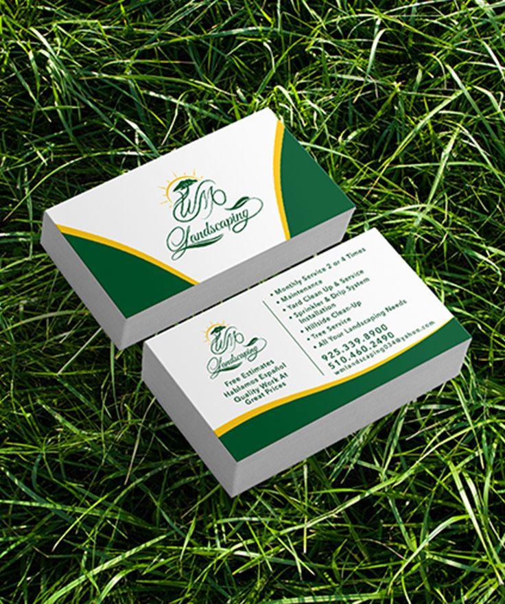 Custom Business Card Design For Landscaping Company Brand Lawn Care Business Cards Custom Business Cards Landscaping Company