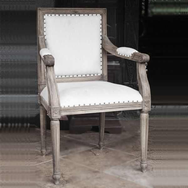 French Country Furniture | Distressed Furniture. Reupholster in pink or red-orange velvet | dD