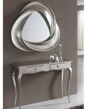 Cool Entryway Tables And Mirror Design Ideas : Coll Silver Theme Entryway  Tables And Mirrors Design