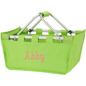 Picnic Basket - Lime Green: 31 Gifts, Green Bernadette, Bridesmaid Gifts, Grocery Baskets Bags, Limes Green, Lime Green, Picnics Baskets, Baskets Embroidered, Picnic Baskets