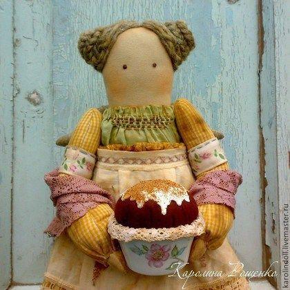 Купить или заказать Воскресный пудинг в интернет-магазине на Ярмарке Мастеров. Интерьерная текстильная кукла. Искусственно состарена, тонирована кофе, чаем. -----------------------------------------------------------------…