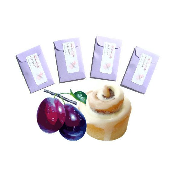 Spiced Sugar Plum Scented Drawer Sachets - Dreamy fragrance of sugarplums and a touch of spice will dance in your head. #SpicedPlum #SachetSet #pebblecreekcandles, $12.00