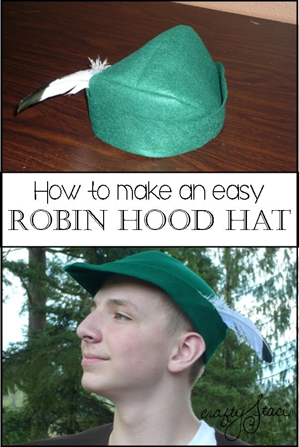 Learn how to sew a simple felt Robin Hood Hat - or Peter Pan, Green Arrow, Prince Phillip, Prince Charming, Pinocchio, the Woodsman or the Pied Piper!