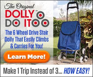 Dolly Do It 6 Wheeled Hand Dolly Goes Up and Down Stairs
