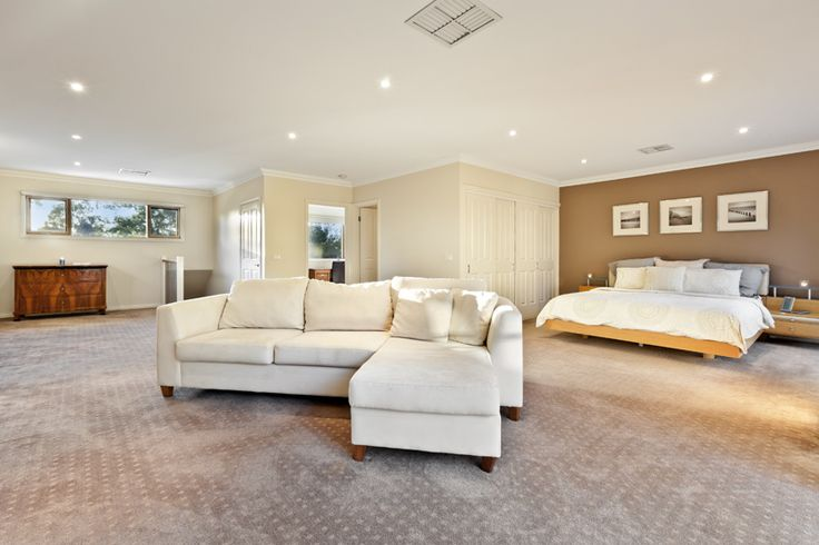 Palatial main bedroom suite with private study / nursery. Must be seen to be believed