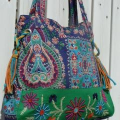 Get on my shoulder RIGHT NOW! Prickly Pear Fabric Bag