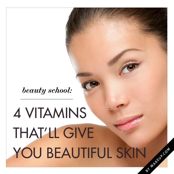The top 4 vitamins to give you beautiful glowing skin: Vitamins A, B, C, E