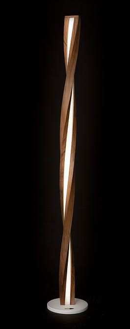 Piotr Fox Wysocki, led,bent wood, lamp, light sculptures, black walnut, hand made, art, modern design, moonlight, rna, dna, flame, wave  http://www.justleds.co.za
