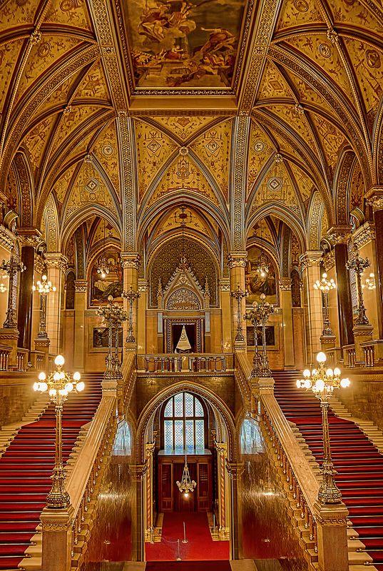 Budapest - Hungarian Parliament Building - Interior