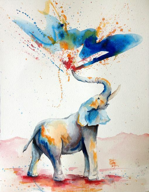 Water color elephant