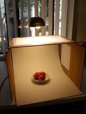 Photo box.  Still life photography.