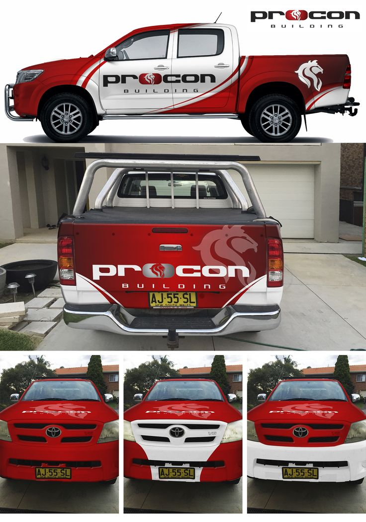 Designs   Create a presents of great jobs & people for Procon Building   Car, Truck or Van Wrap contest