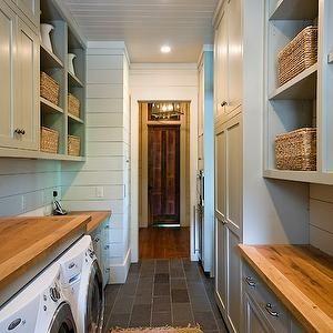 Gray Laundry Room - Cottage - laundry room - Fantastic Floors