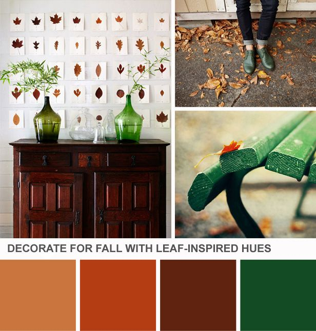 Fall Color Palette Ideas (http://blog.hgtv.com/design/2013/09/24/fall-color-palette-ideas/?soc=pinterest)
