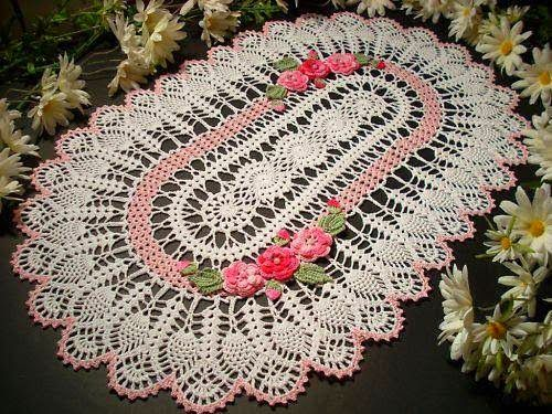 312 Best Oval Crochet Doily Images On Pinterest Doilies Crochet