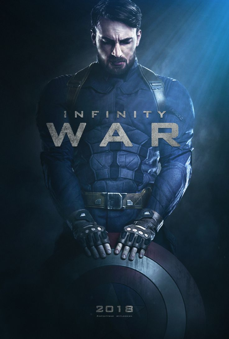 I made Captain America character poster for Infinity War