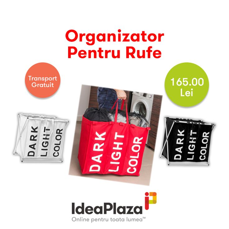 Cel mai simplu si comod mod de ati organiza hainele murdare --- https://goo.gl/Prz9BH    #hainemurdare #organizatorrufe #rufe #baie #ideaplaza