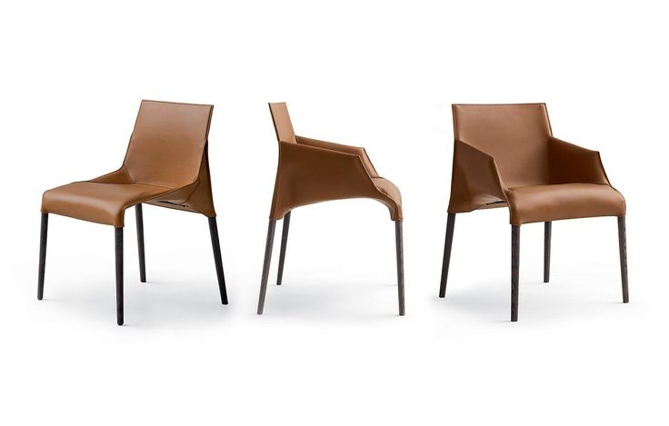 Seattle Chair, Jean - Marie Massaud: spessart oak and 26 aged natural hide seat.
