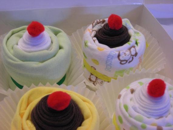 Safari Baby Clothes Cupcakes