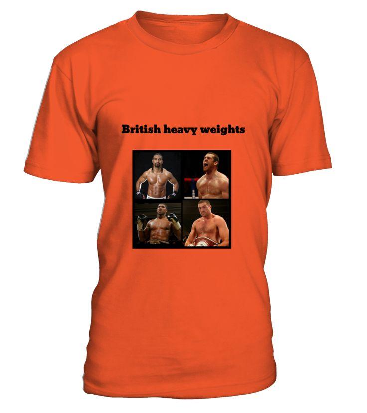 British heavy weight boxing T.shirt showing Anthony Joshua, Tyson Fury, David Price and David Hey