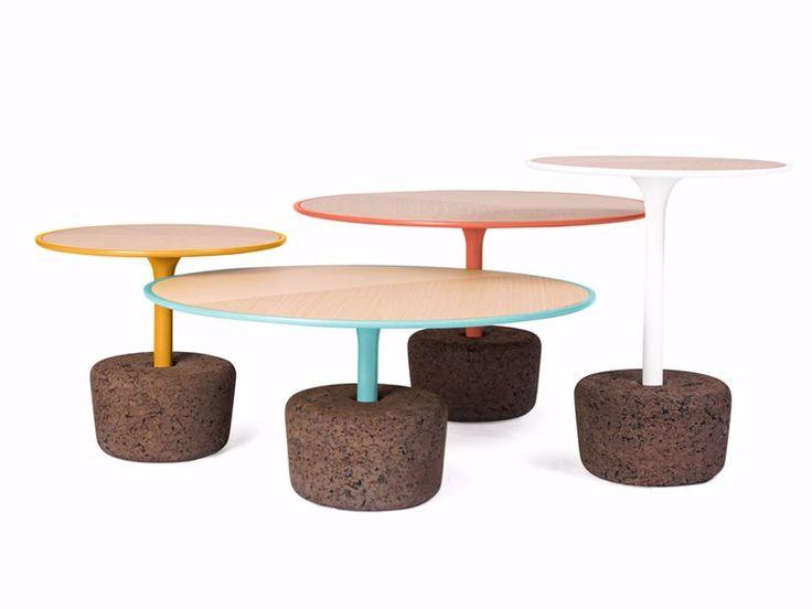 Tavolino Rotondo In Legno E Sughero FLORA By DAM. Round Coffee TablesSide  ...