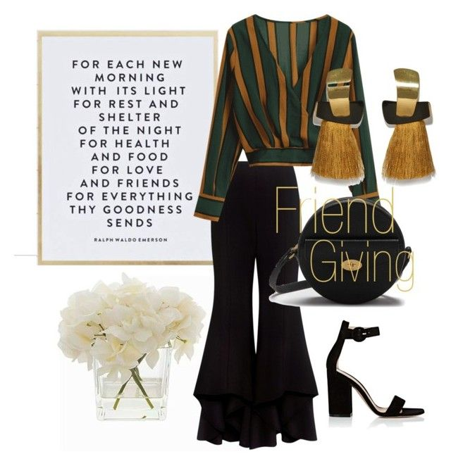 """""""Friendgiving"""" by emmamashilo on Polyvore featuring SS Print Shop, Alexis, Gianvito Rossi, Lizzie Fortunato and Mulberry"""