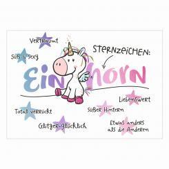 Postkarte »Sternzeichen Einhorn«