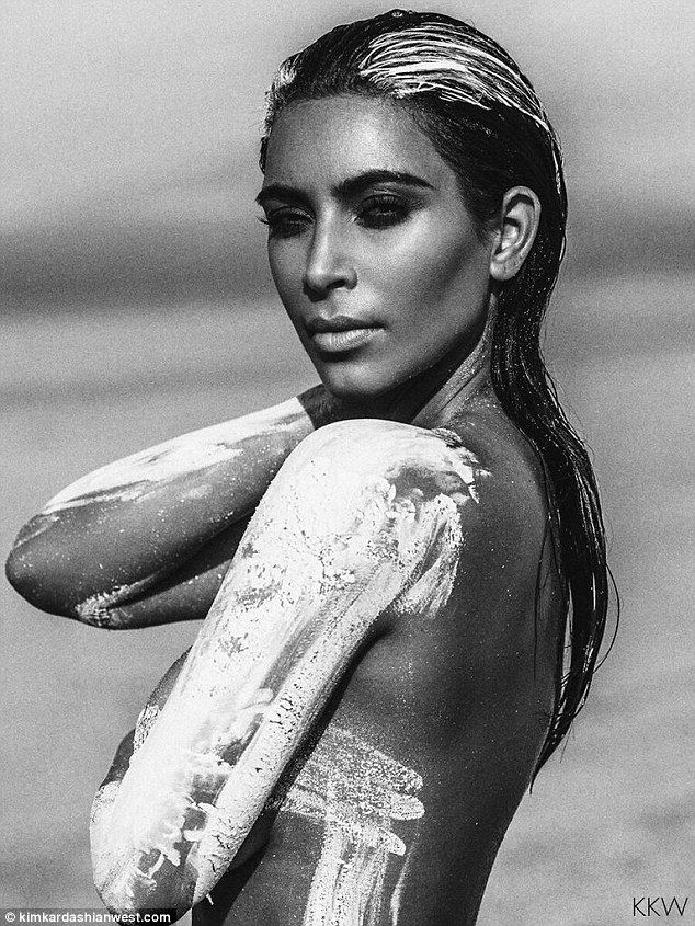 Sands of time:While Kim has shown a preview of the shoot on her reality show, KUWTK, back...