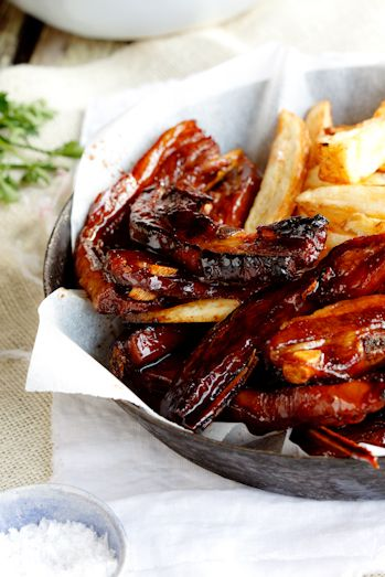Sticky Asian Lamb Riblets - Trying this (with half the sugar and sodium) this week with some clearance lamb ribs I found
