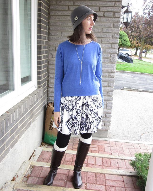 Today's outfit: blue and white #fall #toronto #torontoblogger #fashionblogger #fashionista #fblog #fashion #fabfinds #fallhaul #fashionblog #fashiongram #fashionable #ootd #ootdshare #oldnavystyle #shein #winnersfabfinds #wiw #whatiwore #whatiworetoday