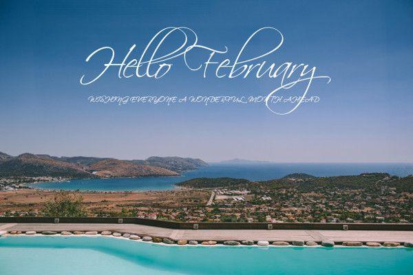 Hello happy February brides! Hello world! Wishing everyone a happy month ahead! xox antigonilivieratou.com Photo by George Pahountis
