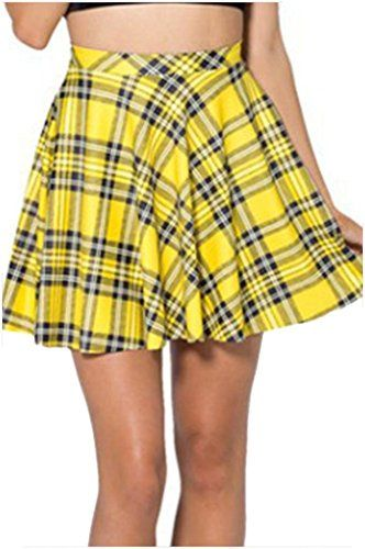 JTC High School Girl's Plaid A-line Mini Skirt Elastic Yellow Jtc http://www.amazon.com/dp/B00RYTP0SM/ref=cm_sw_r_pi_dp_ZjTawb04QRKQ9