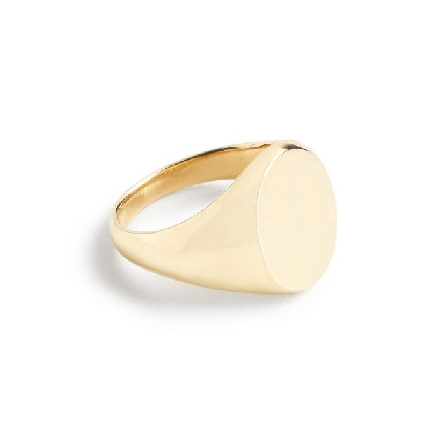 14k gold signet pinky ring