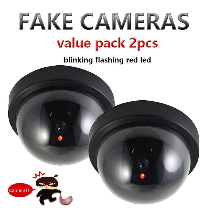 Value Pack 2pcs Dummy CCTV Camera Flash Blinking LED Fake Camera Security Simulated video Surveillance fake camaras de seguridad #Affiliate