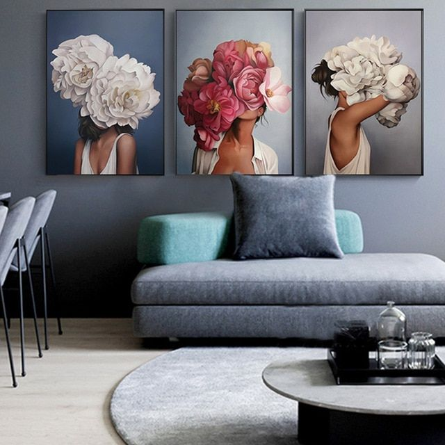 Flower Girls Canvas Art Canvas Art Painting Abstract Canvas