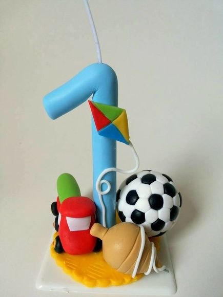 Vela brinquedos em biscuit
