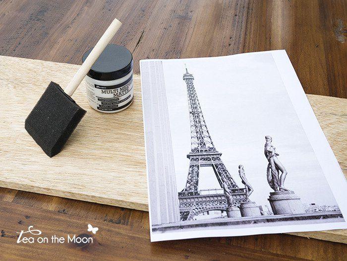 Transferencia de una imagen a madera                                                                                                                                                                                 Más