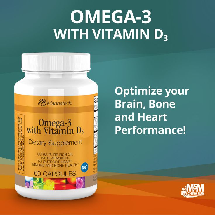 Omega-3 with Vitamin D3--A way to optimize your brain, bone and heart performance.