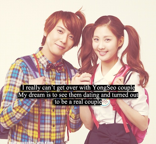 YongSeo <3 Such a cute couple~ T.T