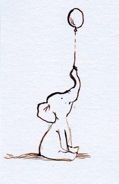 Elephants::baby art on Pinterest