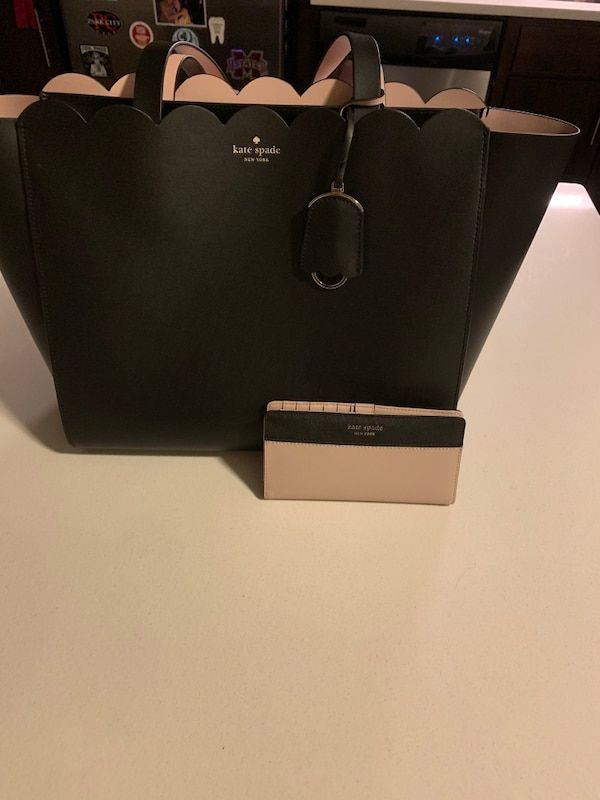 52ef90a44855 Used Black kate spade leather tote bag/matching wallet! for sale in  Watertown -