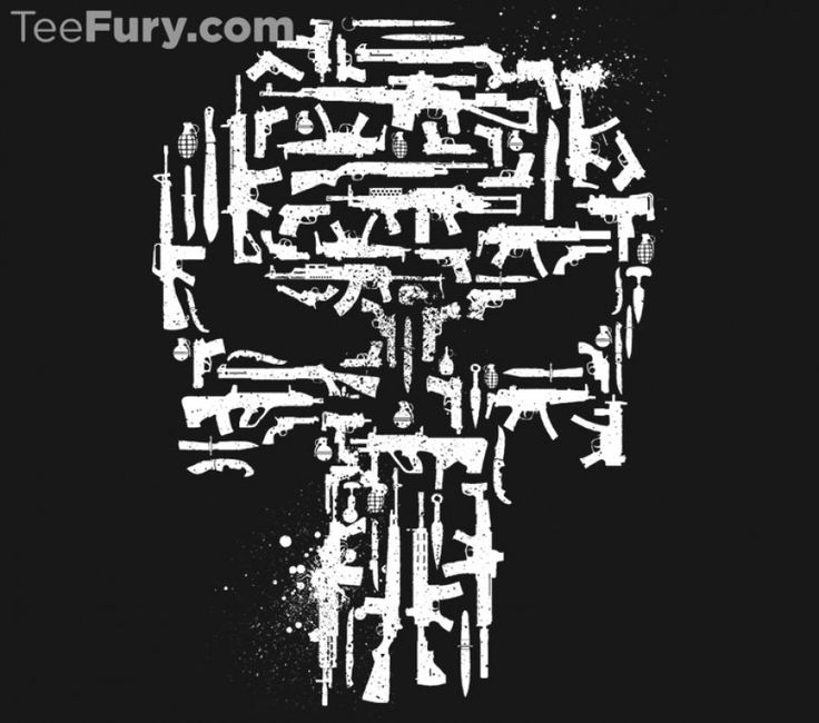 Vigilante Weaponry T-Shirt $11 Punisher tee at TeeFury today only!