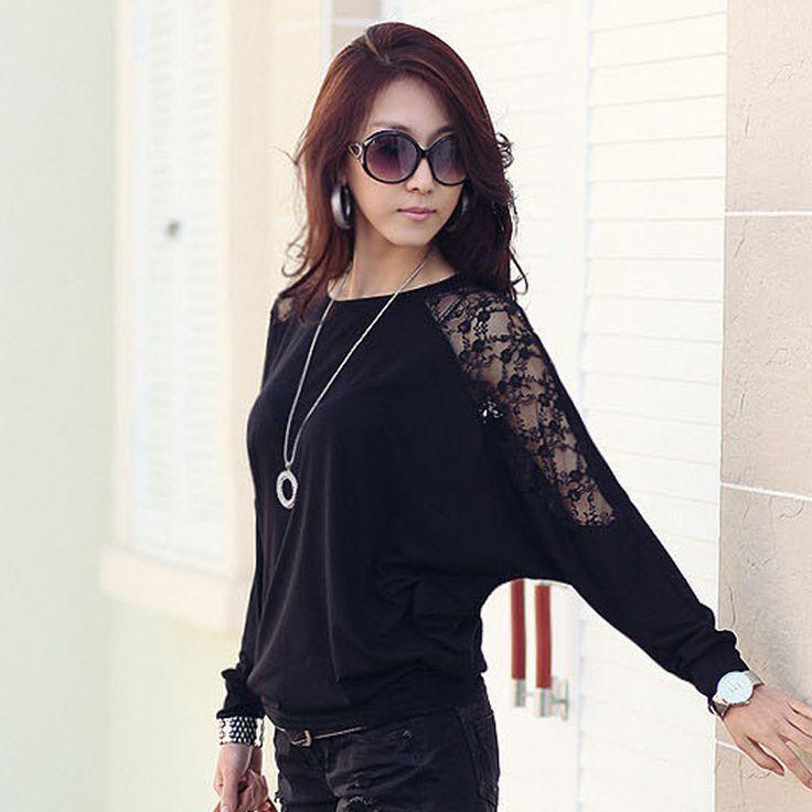Batwing Mouwen Vrouwen Kleding 2016 Casual Lace Blouse Wit Tops Losse Katoenen Plus Size Koreaanse Kleding Blusas Femininas in welkom in onze winkel: http://www.aliexpress.com/store/1802227 SizelengtebusteschoudertaillemouwheupenhoogteS629 van op AliExpress.com | Alibaba Groep
