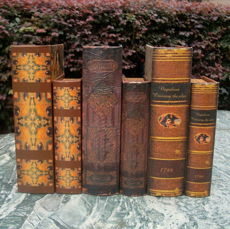 Кожа книга box set старинные украшения книги книги фотографии реквизит книги коробка для хранения